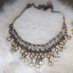 White House Black Market Crystal Cascade Necklace